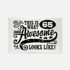 65th Birthday Rectangle Magnet