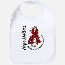Multiple Myeloma Flower Ribbon 1.4 Bib