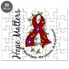 Multiple Myeloma Flower Ribbon 1.4 Puzzle