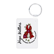 Multiple Myeloma Flower Ri Aluminum Photo Keychain