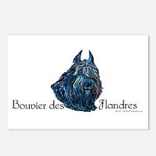Bouvier des Flandres Black Postcards (Package of 8