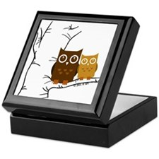Owls Keepsake Box
