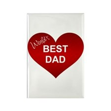 WORLD'S BEST DAD Rectangle Magnet (100 pack)