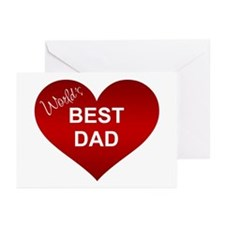 WORLD'S BEST DAD Greeting Cards (Pk of 10)