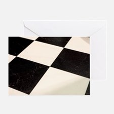 Black & White Checkered Floor Greeting Card