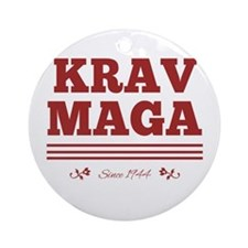 Krav Maga since 1944 red Ornament (Round)