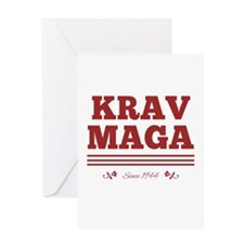 Krav Maga since 1944 red Greeting Cards