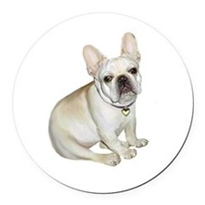French Bulldog (#2) Round Car Magnet