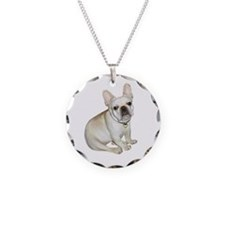French Bulldog (#2) Necklace Circle Charm