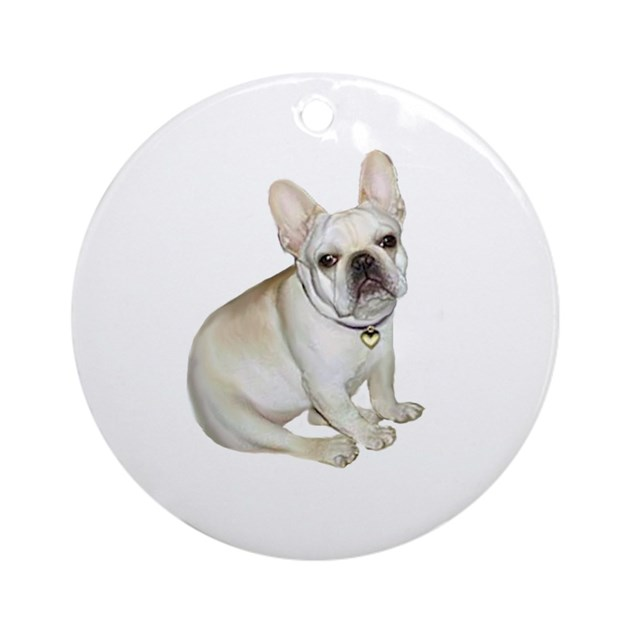French Bulldog 2 Ornament Round By Justthedog
