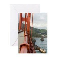 golden gate fence Greeting Card