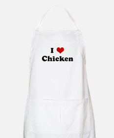 I Love Chicken BBQ Apron