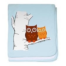 Owls baby blanket
