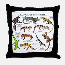 Geckos of the World Throw Pillow