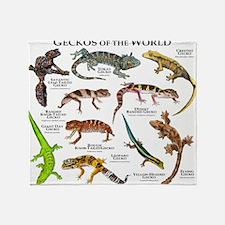 Geckos of the World Throw Blanket