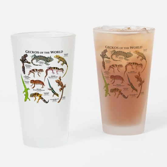 Geckos of the World Drinking Glass