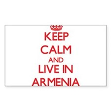 Keep Calm and live in Armenia Decal