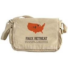Faux Retreat Messenger Bag