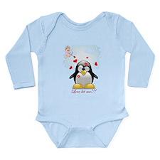 Love Hit Me / Long Sleeve Infant Body Suit