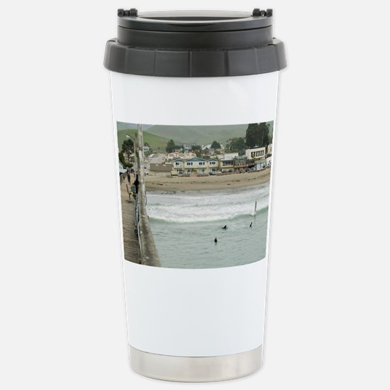 Cayucos Pier View Stainless Steel Travel Mug