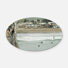 Cayucos Pier View Oval Car Magnet