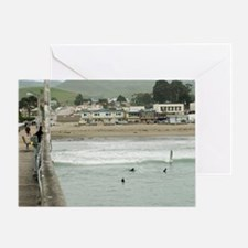 Cayucos Pier View Greeting Card
