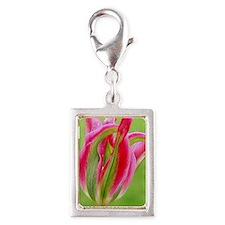 Parrot Tulip Silver Portrait Charm