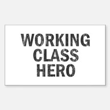 Working Class Hero Rectangle Decal