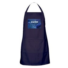 Blue Fish Swim Apron (dark)