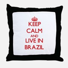 Keep Calm and live in Brazil Throw Pillow