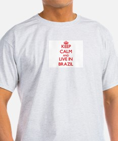 Keep Calm and live in Brazil T-Shirt