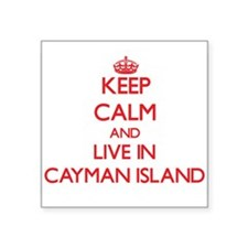 Keep Calm and live in Cayman Island Sticker