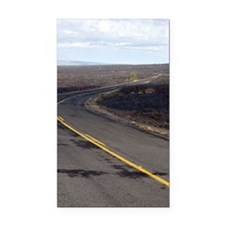 lava field road Rectangle Car Magnet