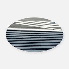 Crosswalk Oval Car Magnet