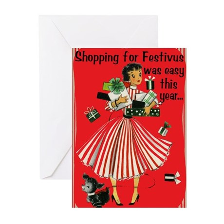 Shopping For Festivus/Human Fund Cards (Pkg of 10)