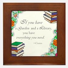 Cicero quote Framed Tile