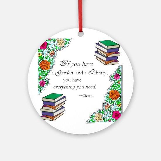 Cicero quote Ornament (Round)