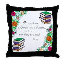 Cicero quote Throw Pillow