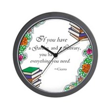 Cicero quote Wall Clock