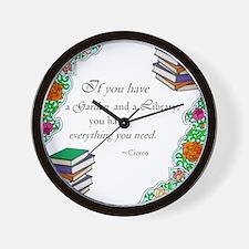Cicero quote Wall Clock