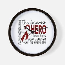 Multiple Myeloma Bravest Hero Wall Clock