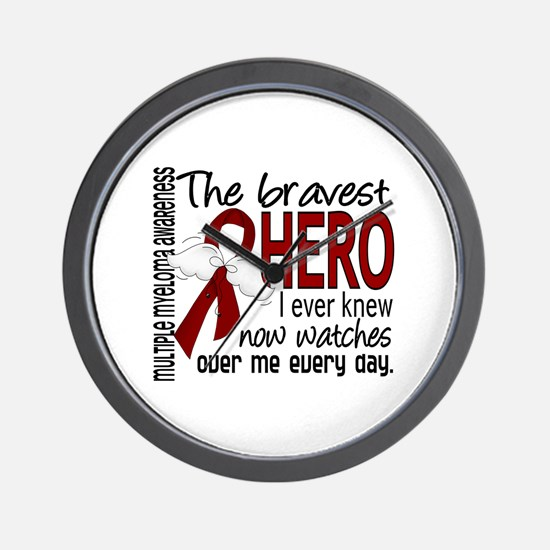 Multiple Myeloma Bravest Hero Wall Clock