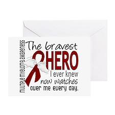 Multiple Myeloma Bravest Hero Greeting Card