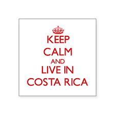 Keep Calm and live in costa rica Sticker