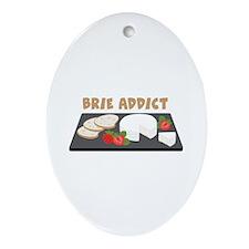 Brie Addict Ornament (Oval)