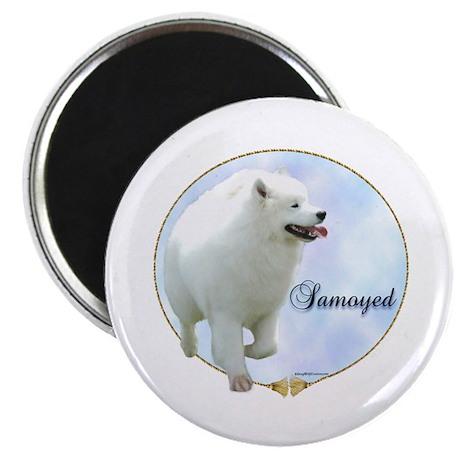 Samoyed Portrait Magnet