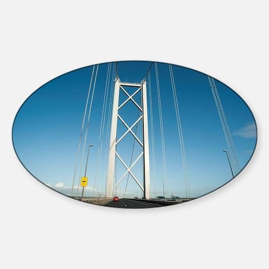 Crossing the Forth Road Bridge Sticker (Oval)