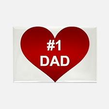 #1 DAD Rectangle Magnet