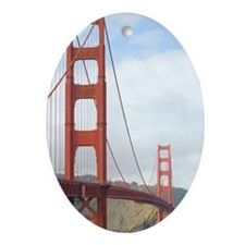 the golden gate Oval Ornament