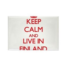 Keep Calm and live in Finland Magnets